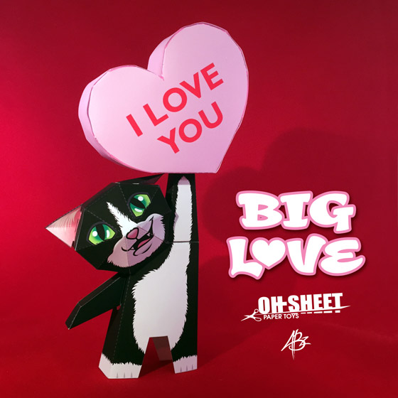 Big Love Paper Toy