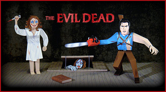 The Evil Dead Paper Toys
